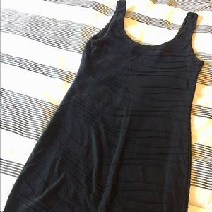 Soft, black body hugging dress